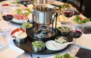 A birthday fondue