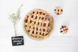 Eating seasonally – through pie: Strawberry rhubarb